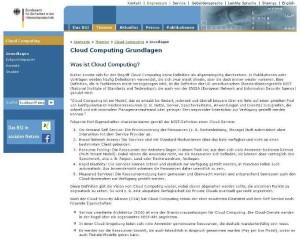 Website-Typen: Informationsseite des BSI
