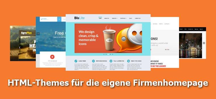 HTML-Themes für die eigene Firmenhomepage