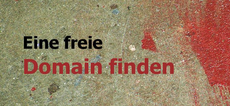 Wie du eine freie Domain finden kannst