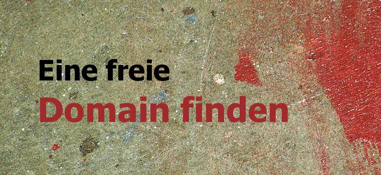 Eine freie Domain finden