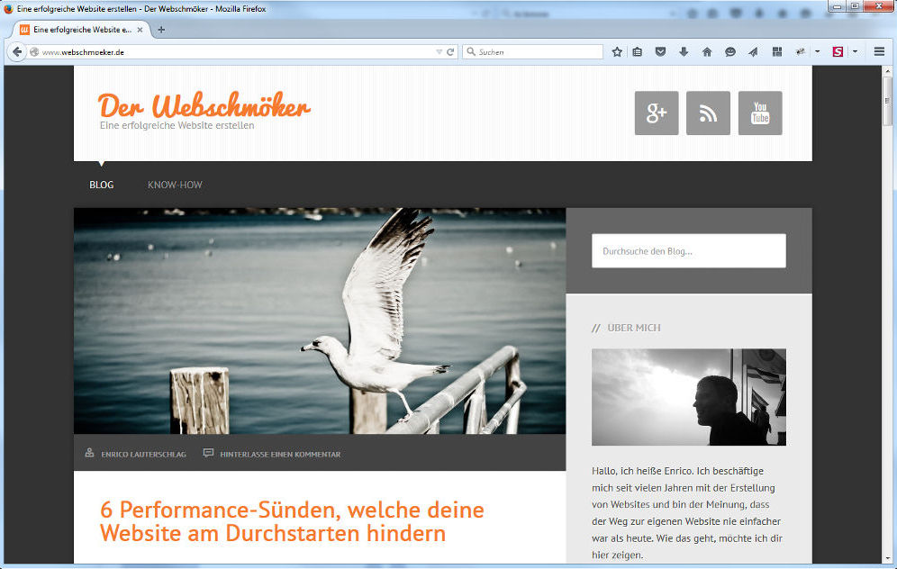 Der Webschmöker dargestellt im Firefox-Browser