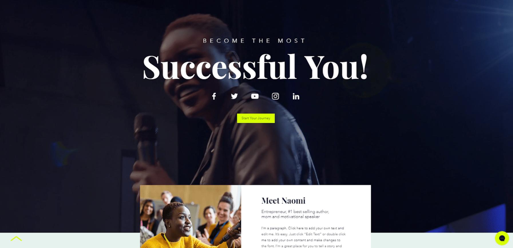 Kostenlose Website erstellen - Beispiel 2
