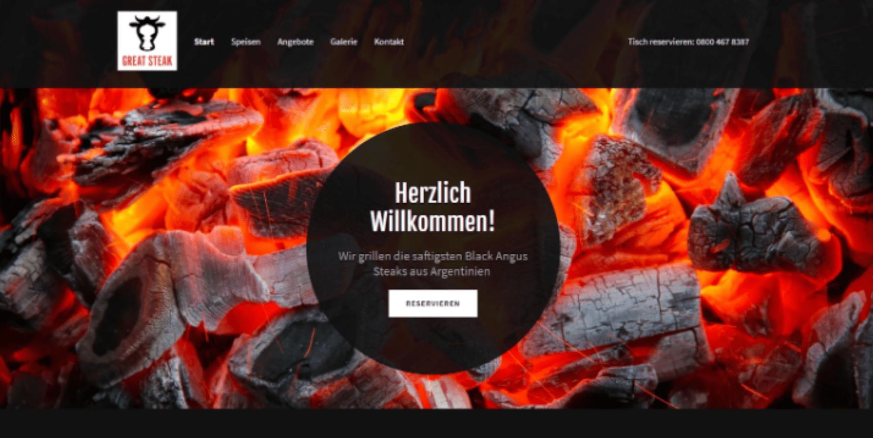 Kostenlose Website erstellen - Beispiel 9