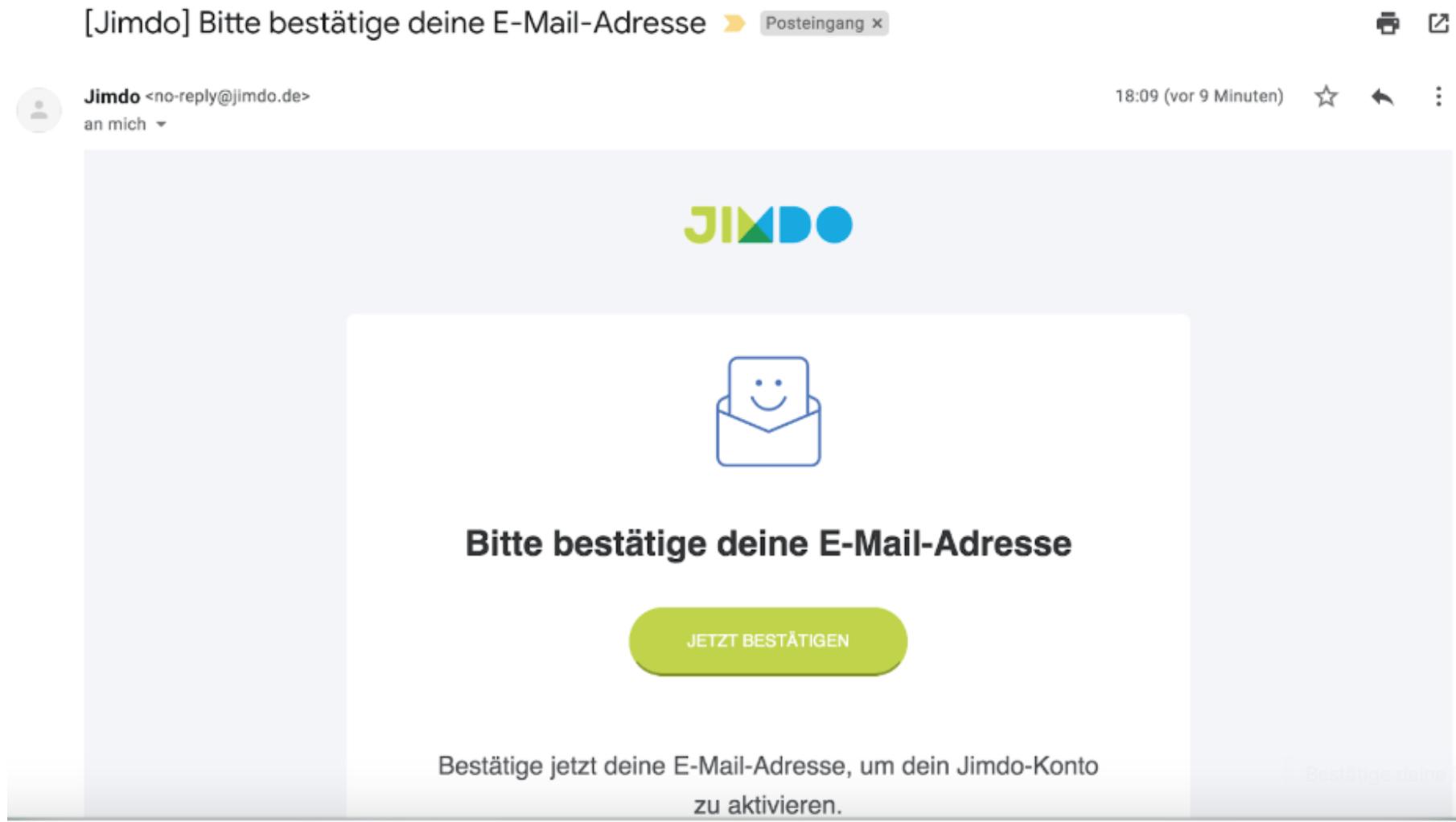 Kostenlose Website erstellen mit Jimdo - Anleitung Schritt 2