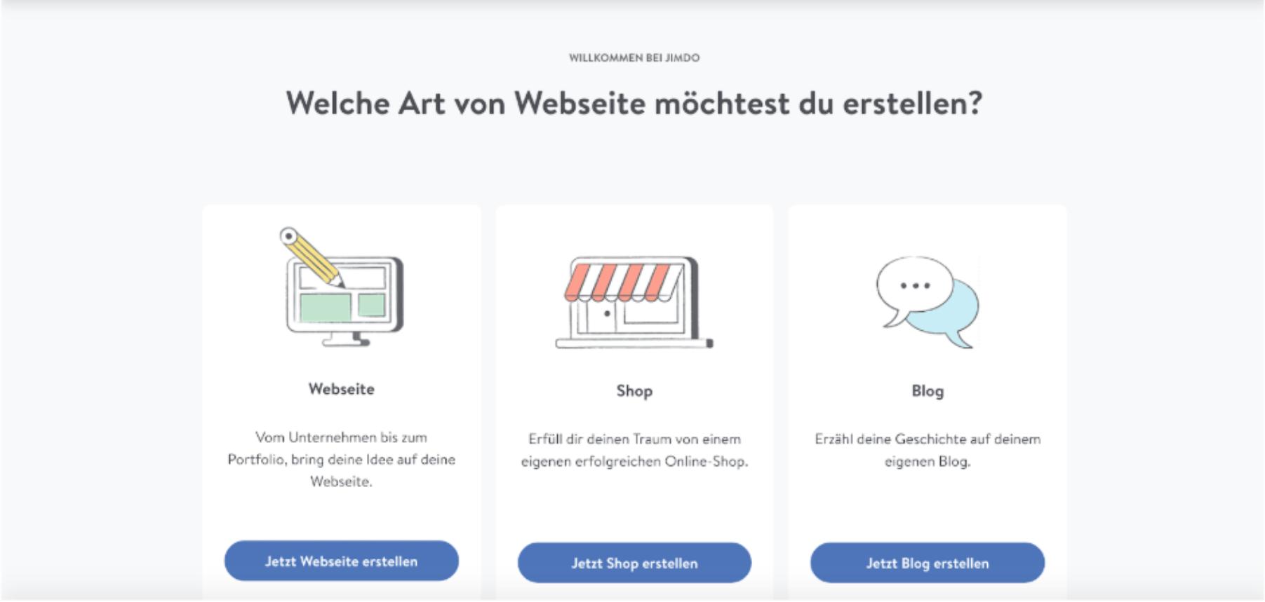 Kostenlose Website erstellen mit Jimdo - Anleitung Schritt 3