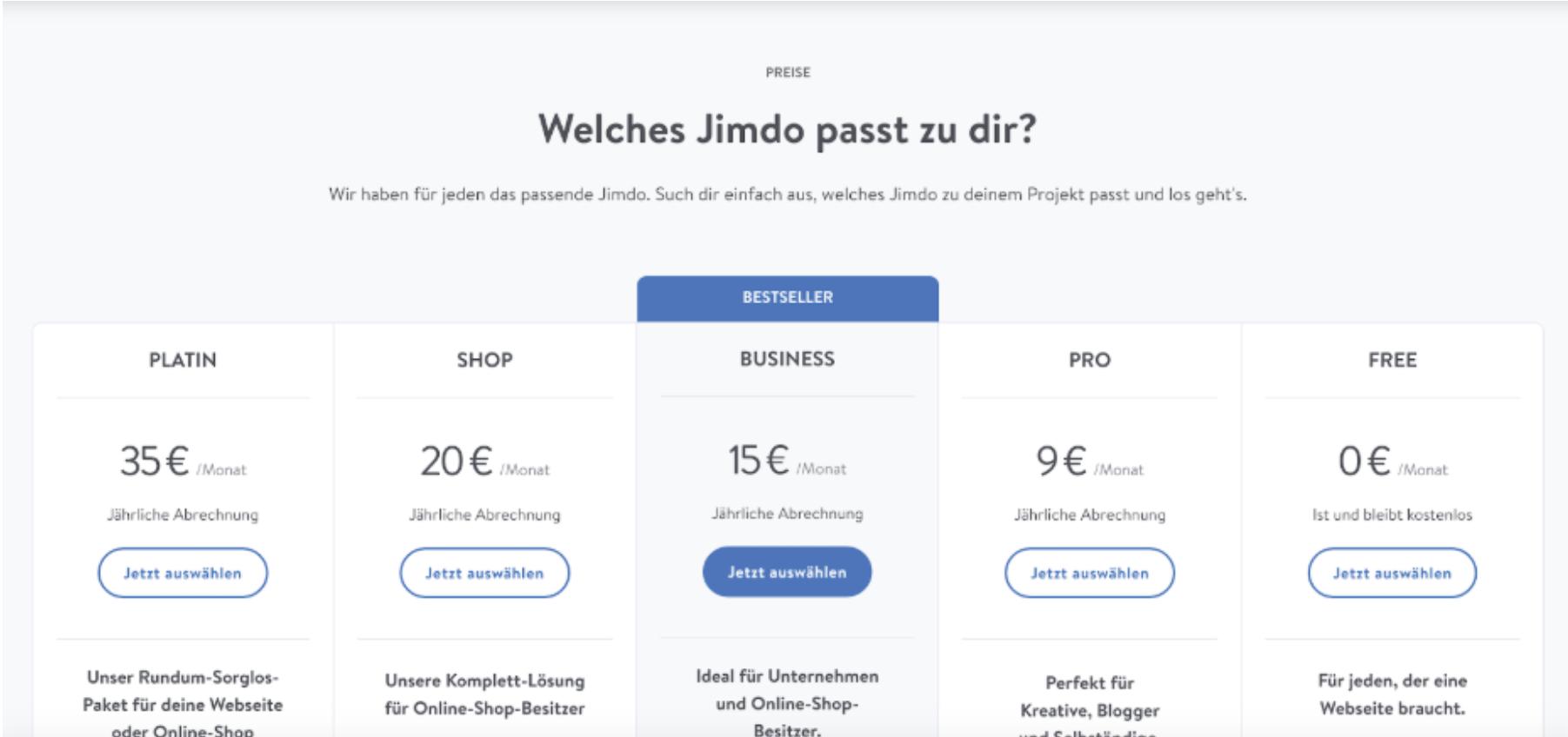 Kostenlose Website erstellen mit Jimdo - Anleitung Schritt 6