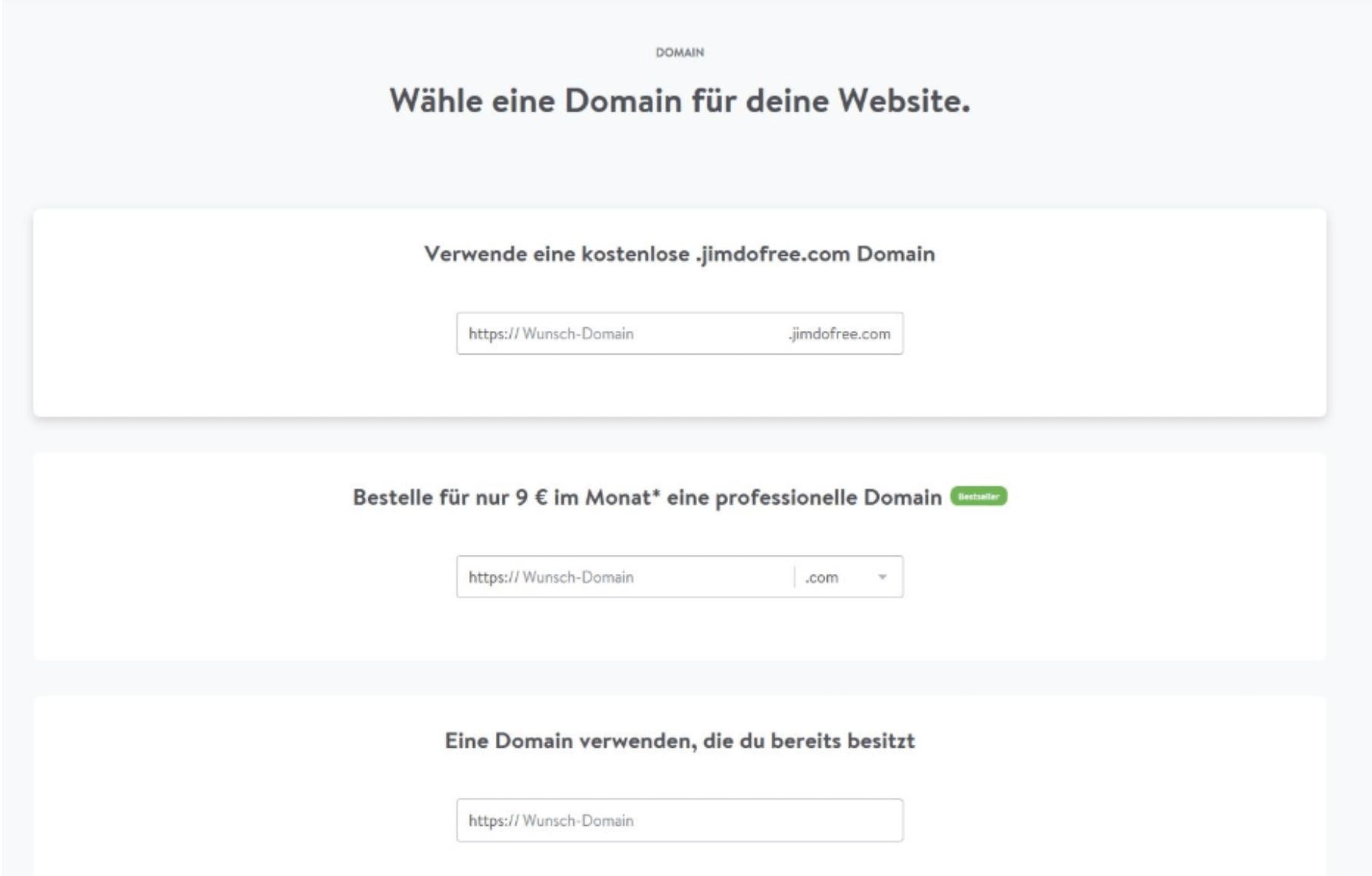 Kostenlose Website erstellen mit Jimdo - Anleitung Schritt 7