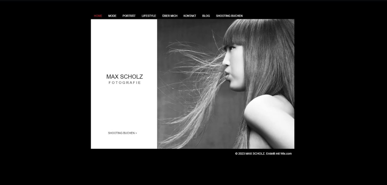 Fotografie Website erstellen mit Wix - Beispiel 1