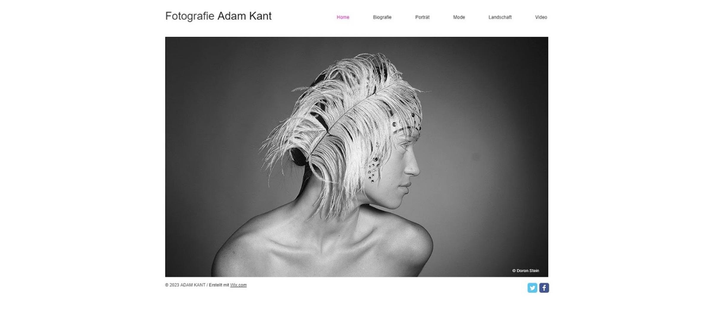 Fotografie Website erstellen mit Wix - Beispiel 3