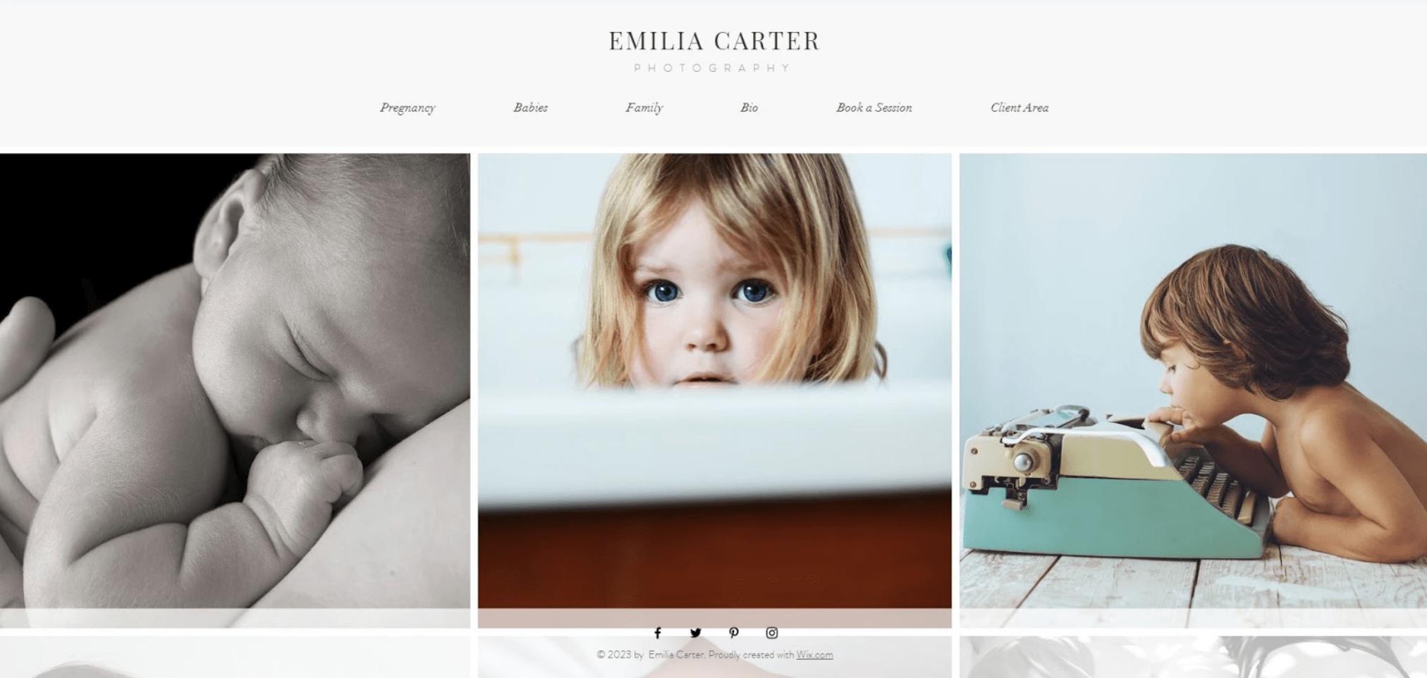 Fotografie Website erstellen - Beispiel 4