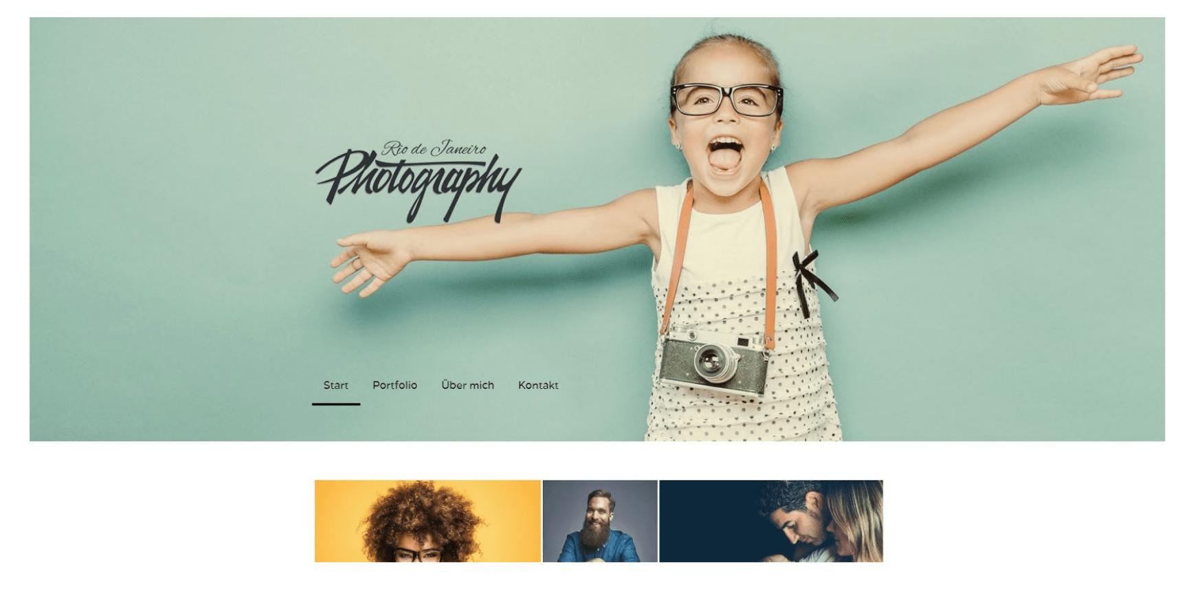 Fotografie Website erstellen - Beispiel 1
