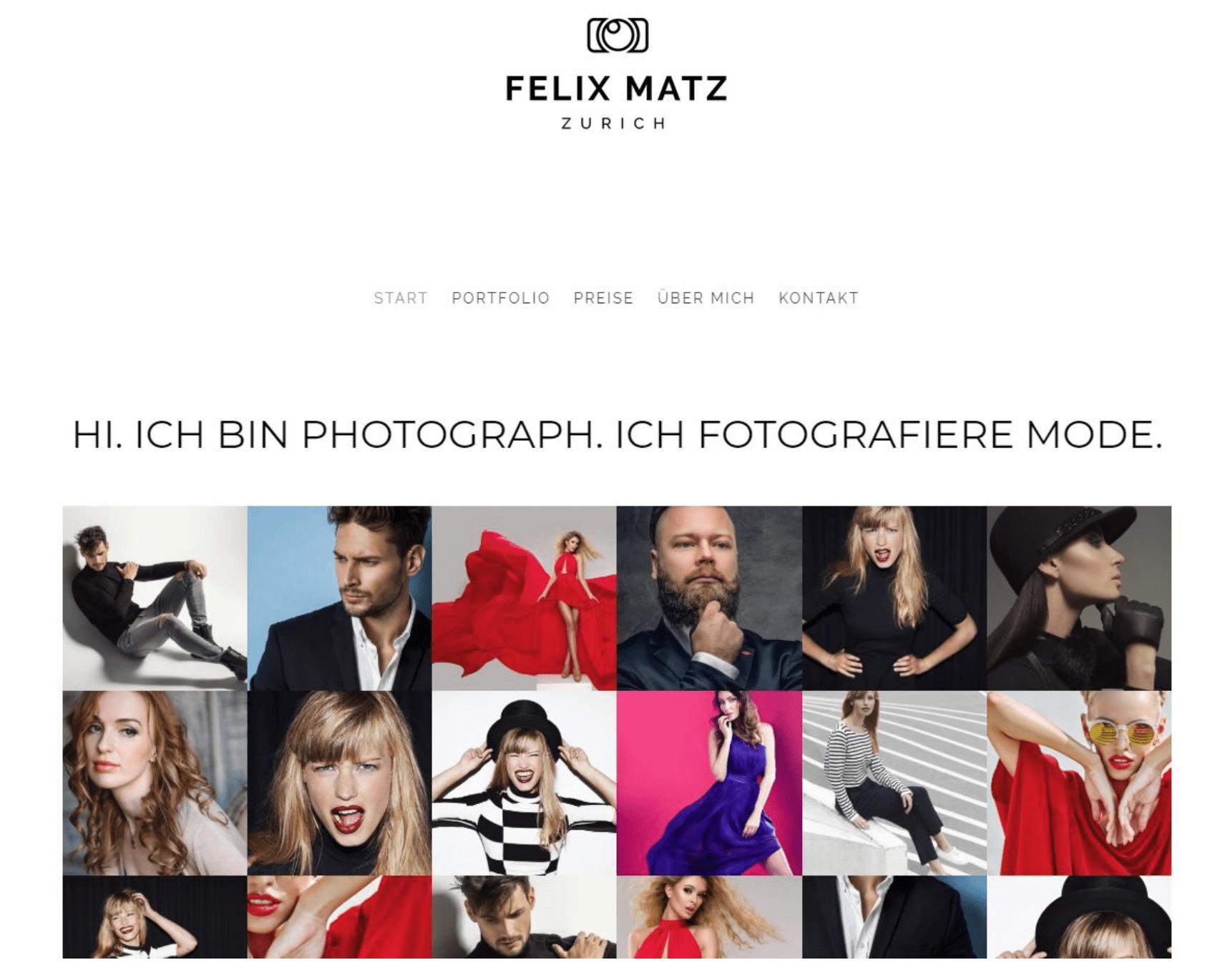 Fotografie Website erstellen - Beispiel 2