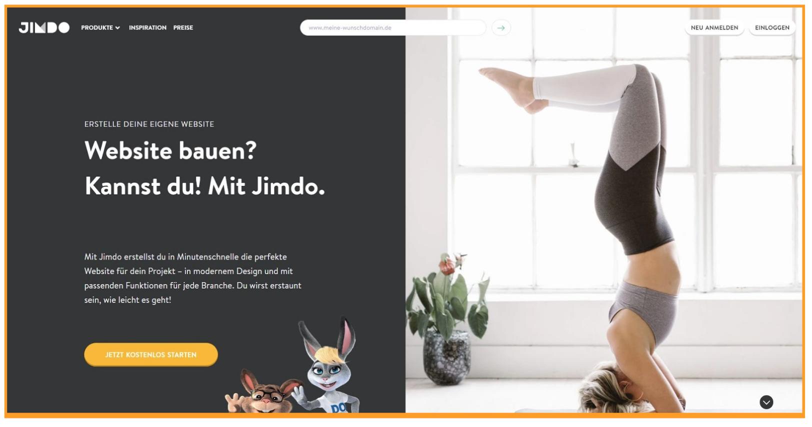 Homepage Baukasten Test - Jimdo