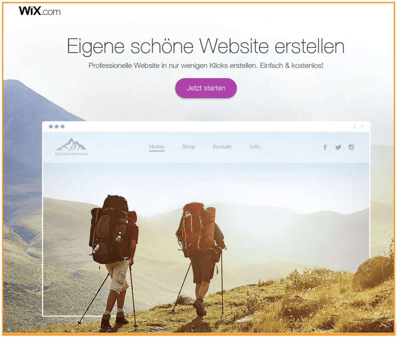 Homepage Baukasten Test - Wix