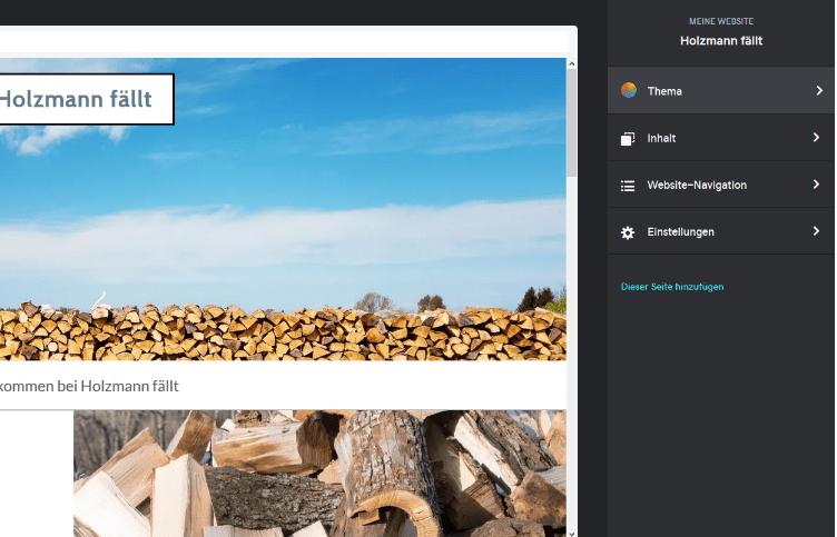 Firmenhomepage erstellen mit GoDaddy Schritt 3.1