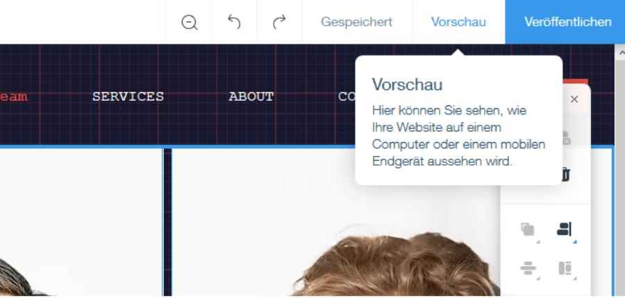 Firmenhomepage erstellen mit Wix Schritt 8: Website testen