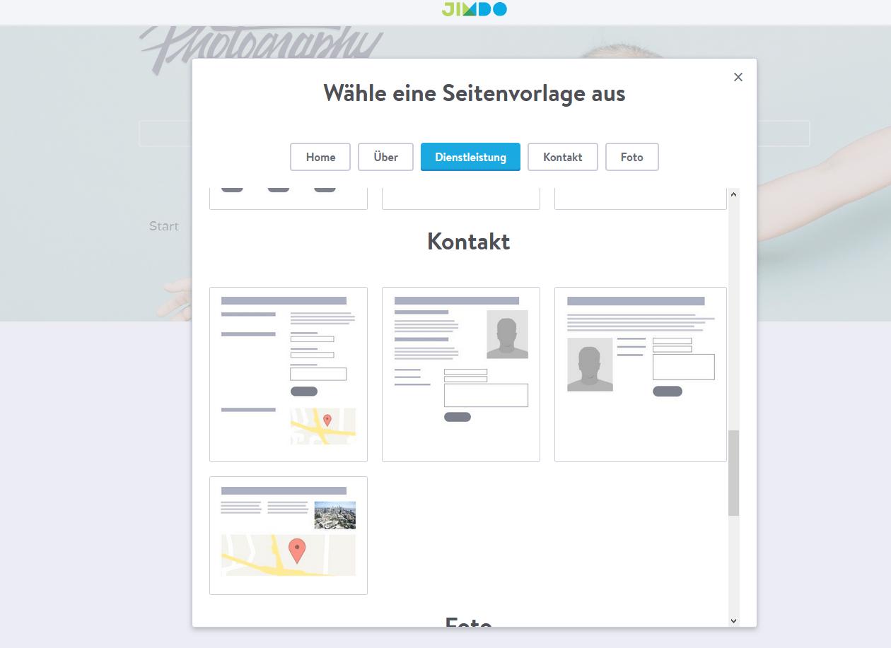 Fotografie Website erstellen mit Jimdo Schritt 8.2: Kontaktformular