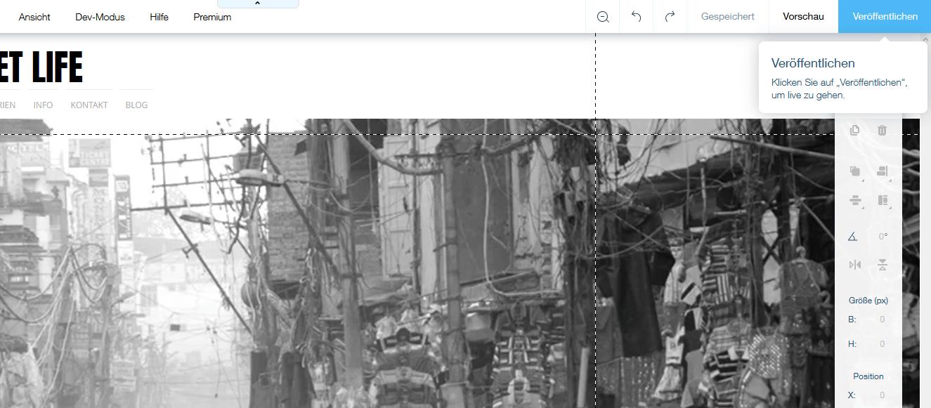 Fotografie Website erstellen mit Wix Schritt 9.1