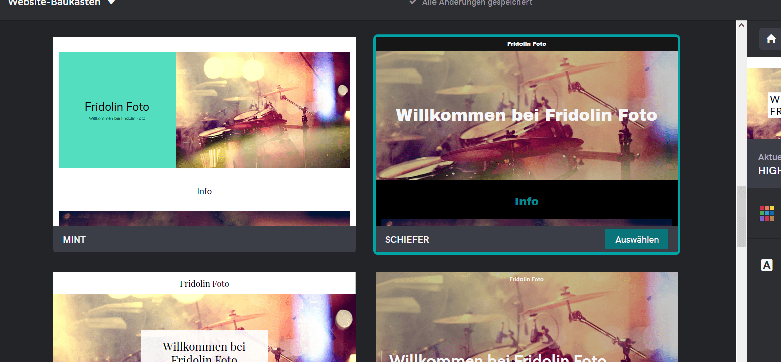 Fotografie Website erstellen mit GoDaddy Schritt 4.2