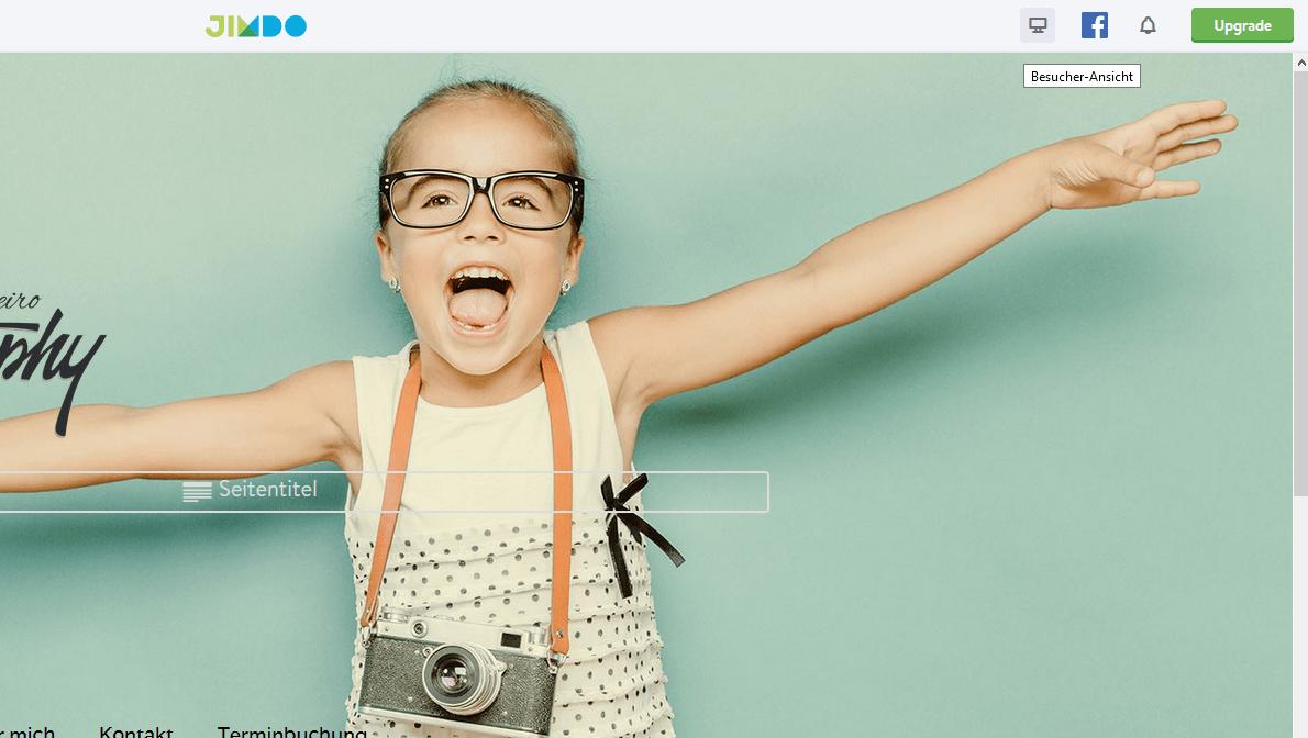 Fotografie Website erstellen mit Jimdo Schritt 9: Veröffentlichen