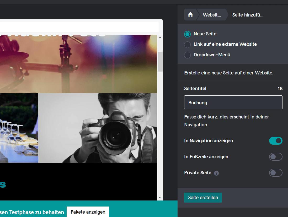 Fotografie Website erstellen mit GoDaddy Schritt 6.4