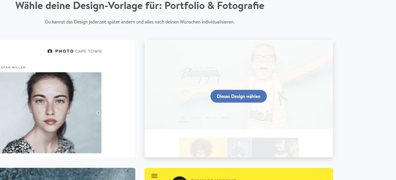 Fotografie Website erstellen mit Jimdo Schritt 3.2