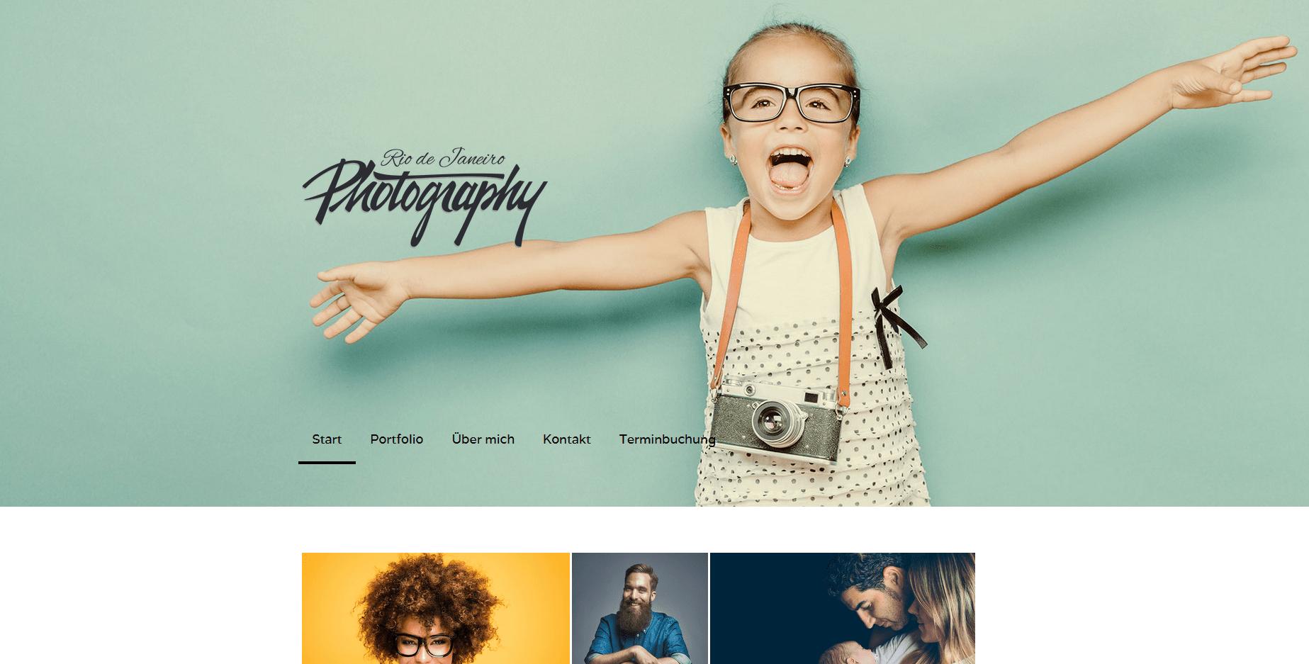 Fotografie Website erstellen Jimdo Beispieltemplate 3