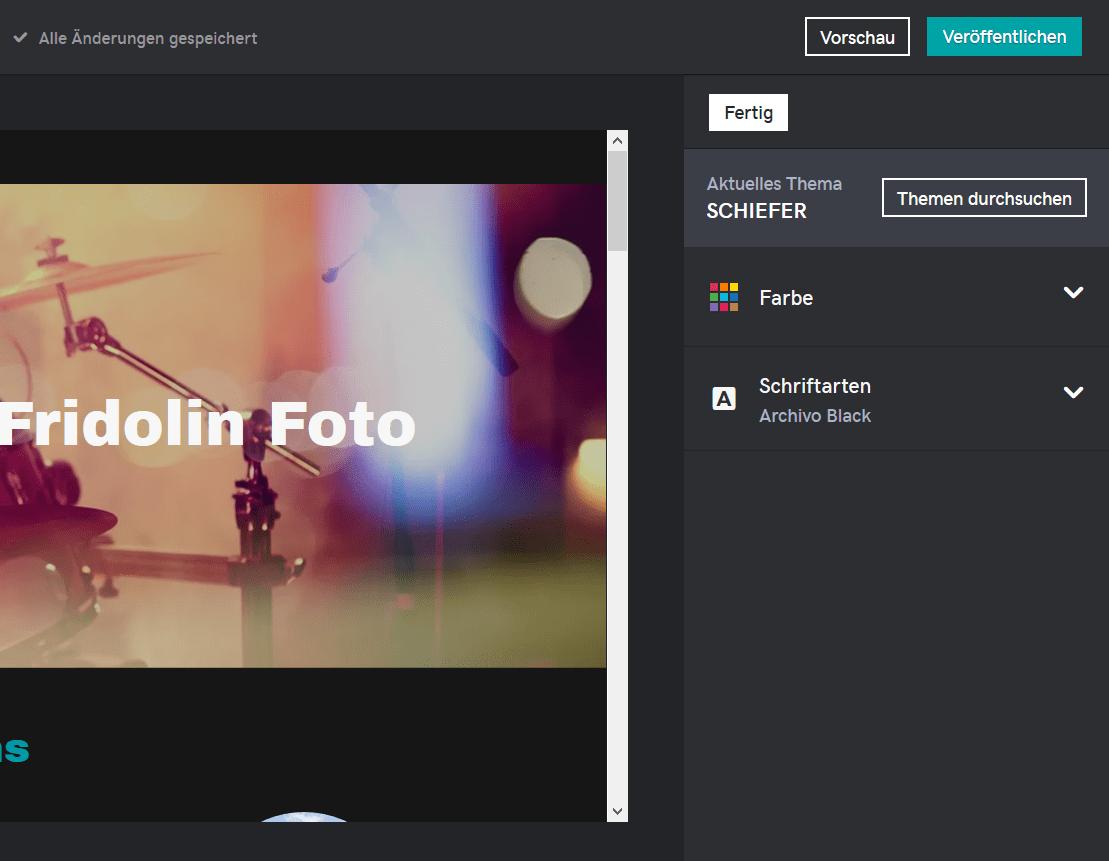 Fotografie Website erstellen mit GoDaddy Schritt 4.3