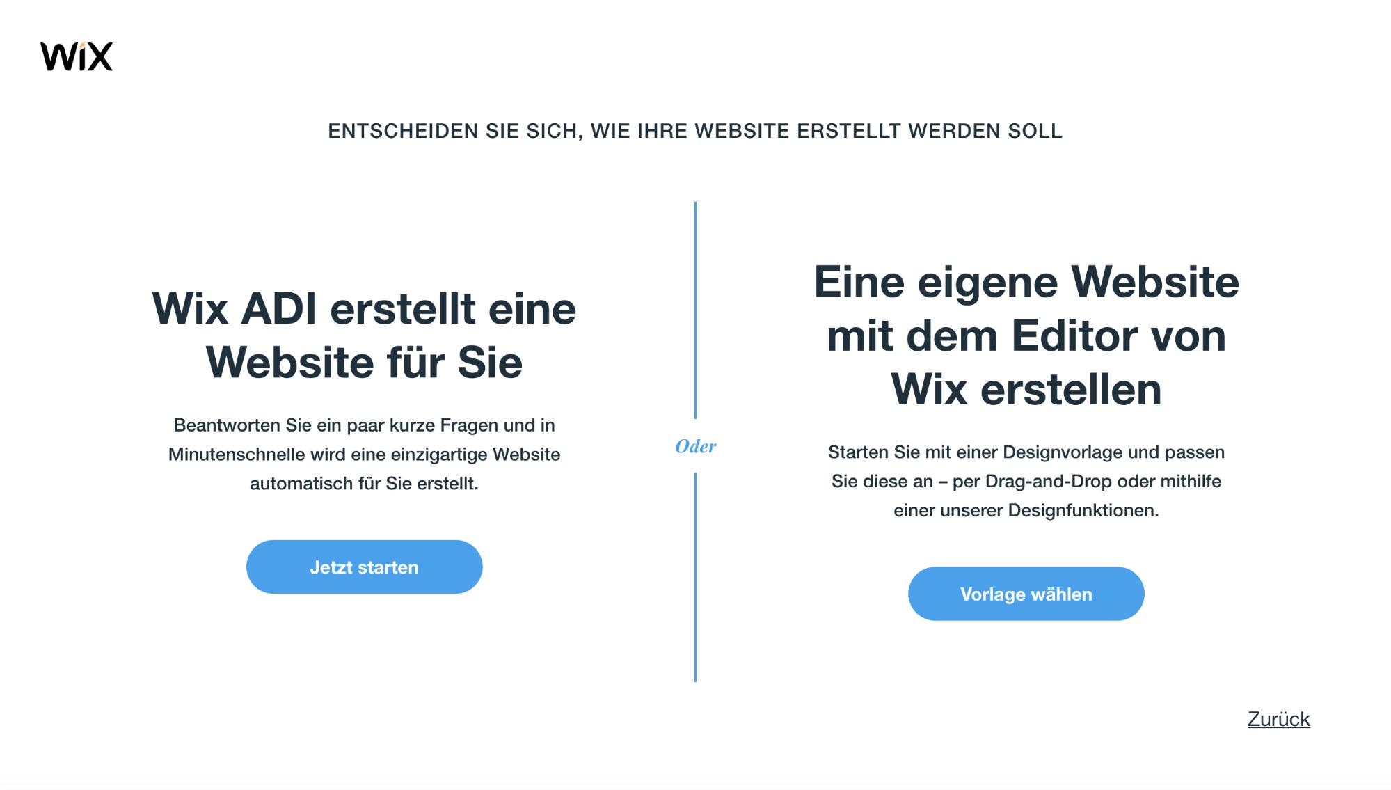 Fotografie Website erstellen mit Wix Schritt 3