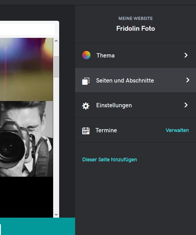 Fotografie Website erstellen mit GoDaddy Schritt 6.1