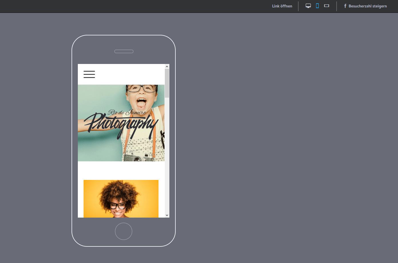 Fotografie Website erstellen mit Jimdo Schritt 9.2