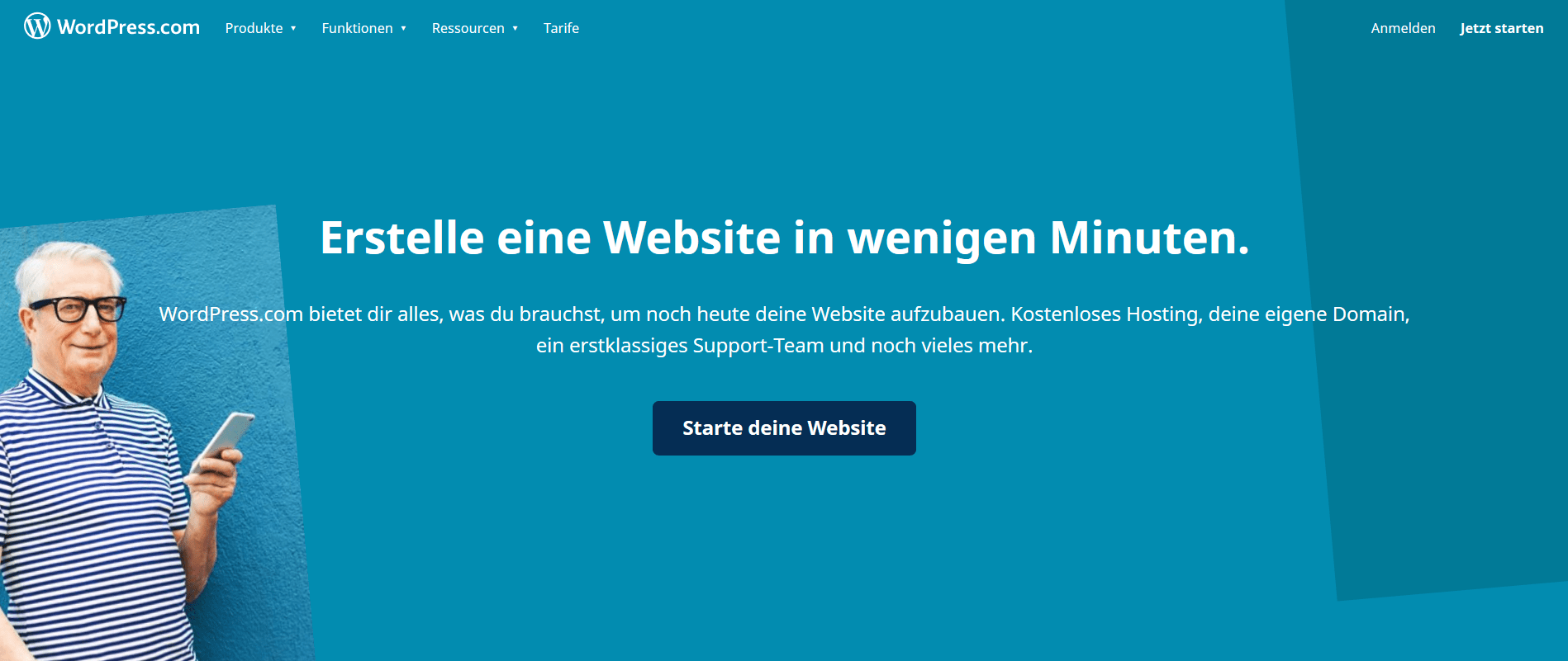 Homepage Baukasten Test: WordPress