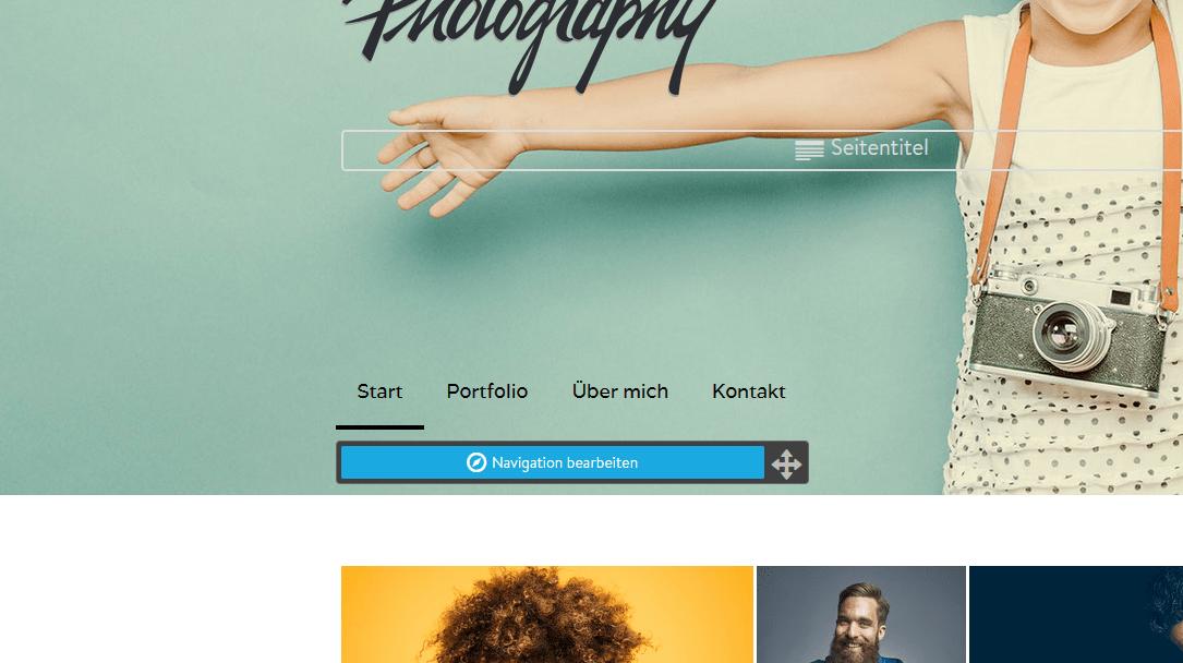 Fotografie Website erstellen mit Jimdo Schritt 7: Unterseiten erstellen
