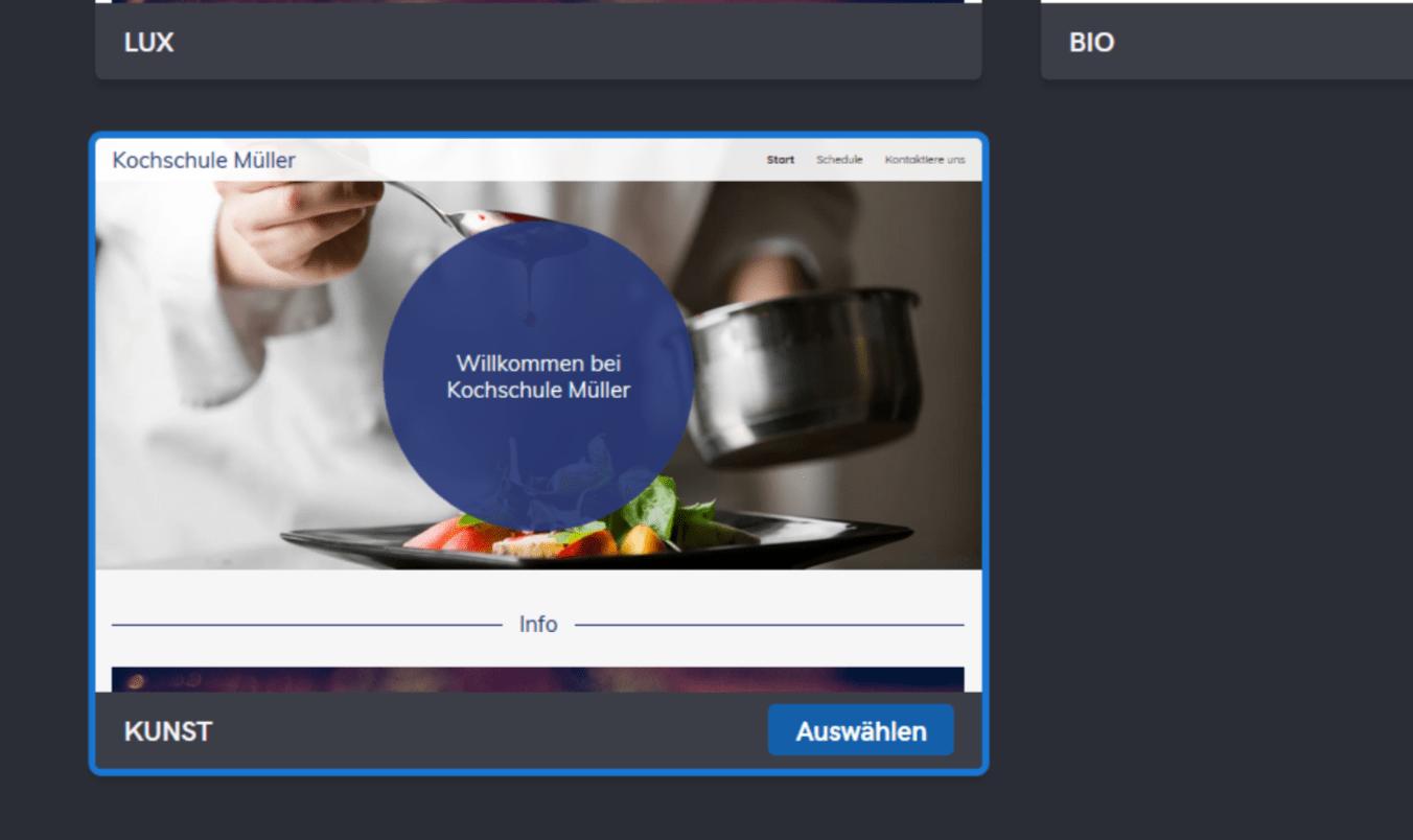 Professionelle Website erstellen mit GoDaddy - Anleitung Schritt 5