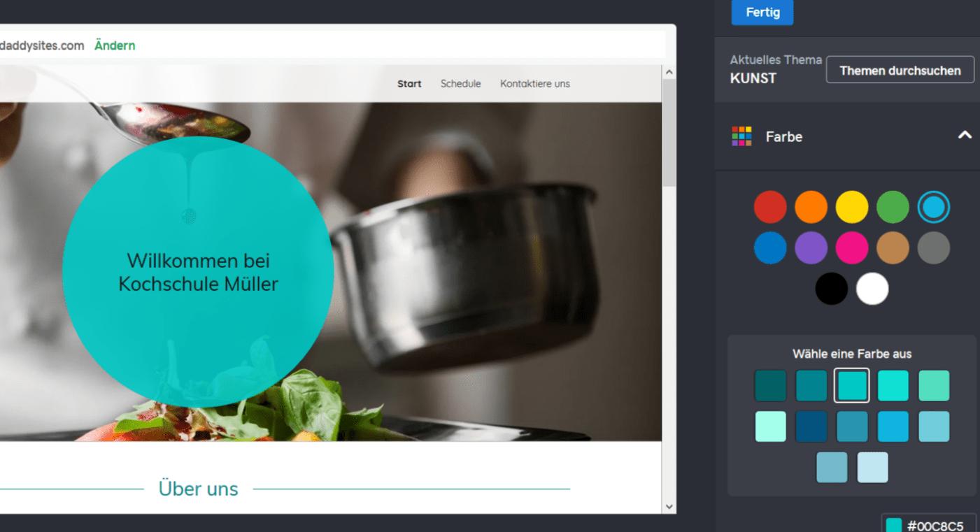 Professionelle Website erstellen mit GoDaddy - Anleitung Schritt 6