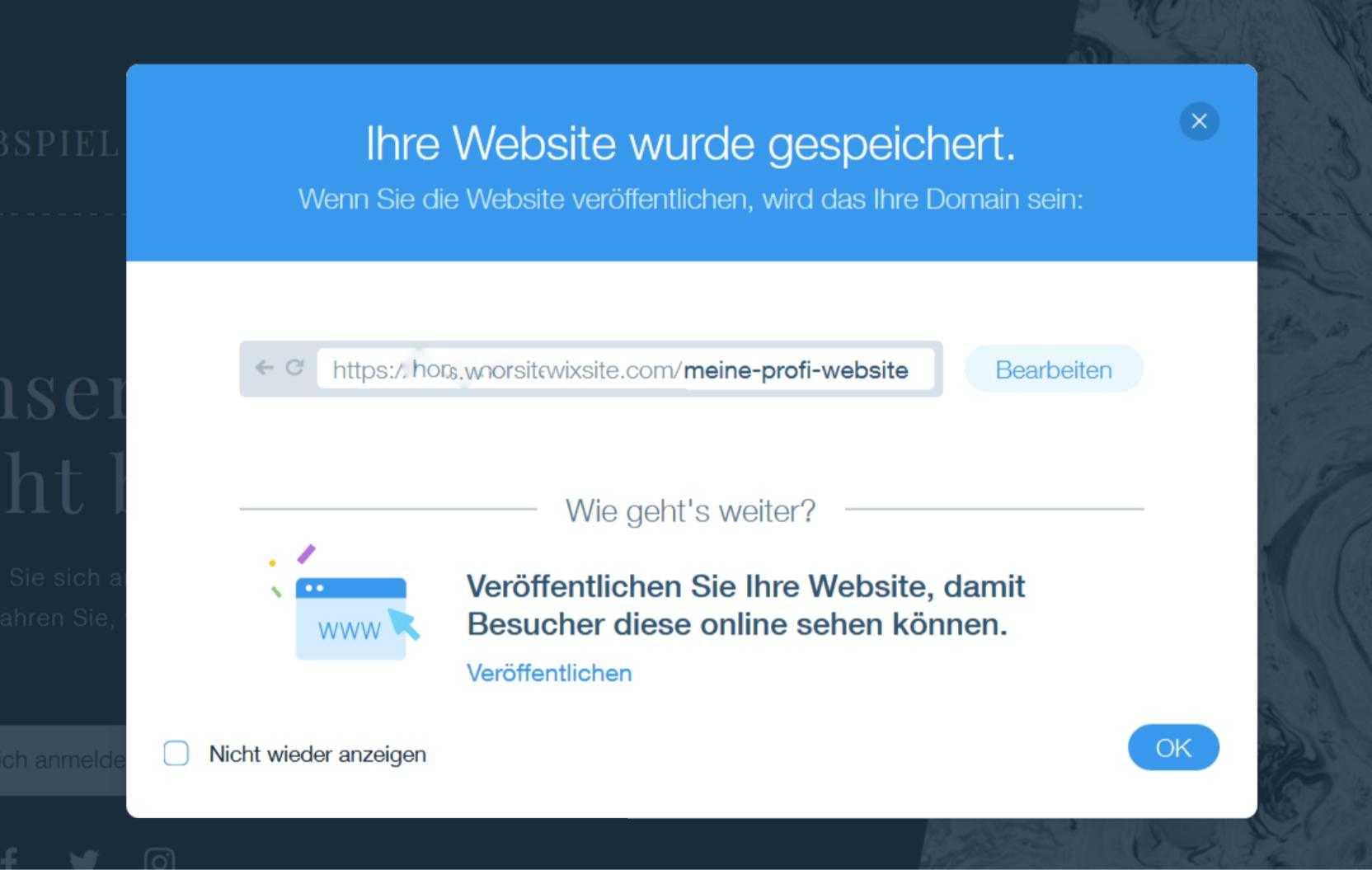 Professionelle Website erstellen mit Wix - Anleitung Schritt 11