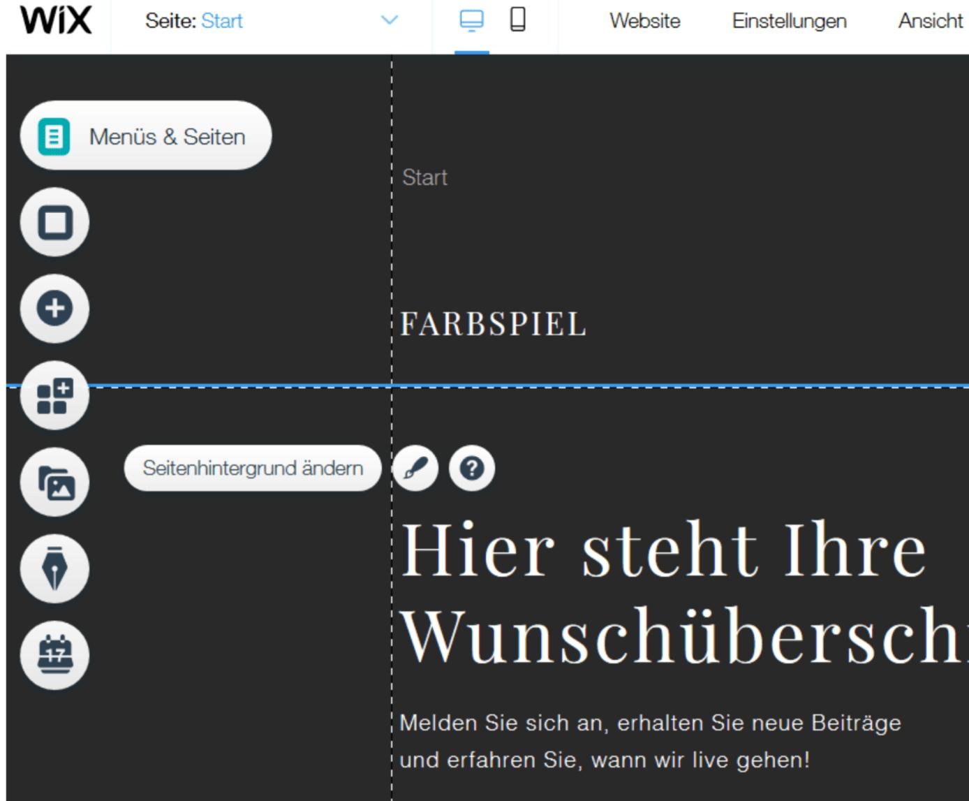 Professionelle Website erstellen mit Wix - Anleitung Schritt 13