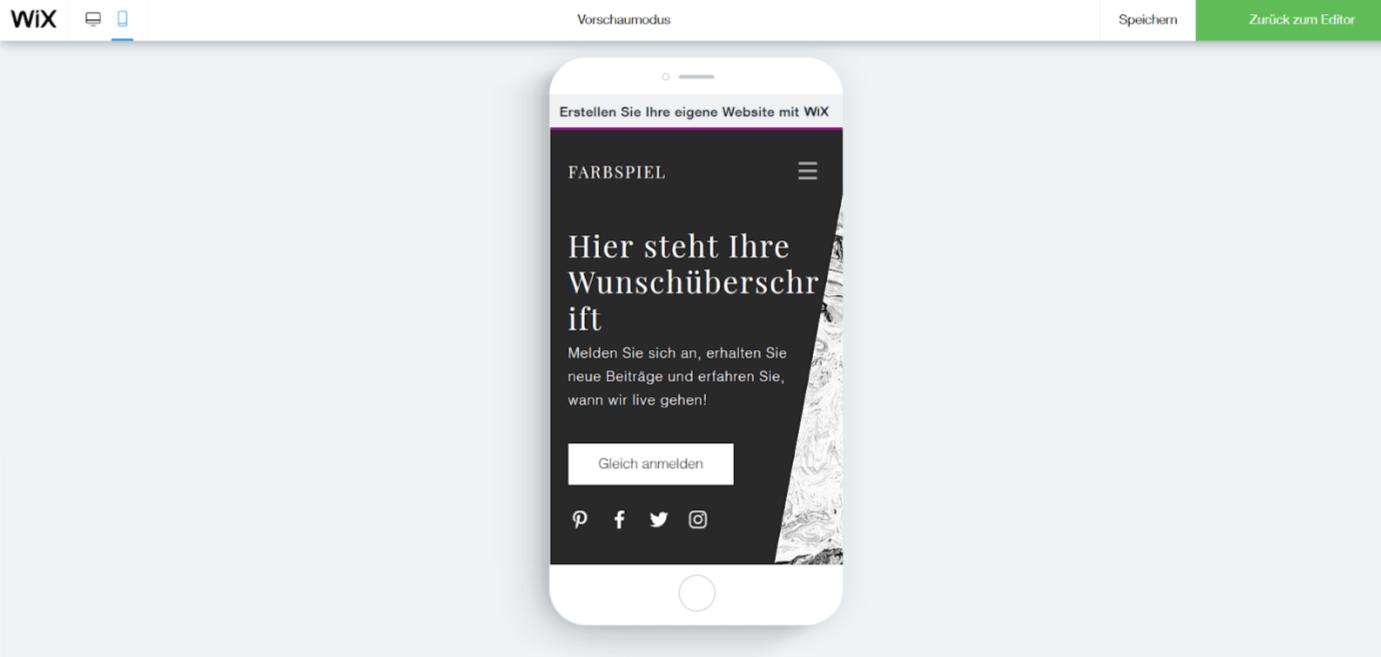 Professionelle Website erstellen mit Wix - Anleitung Schritt 21