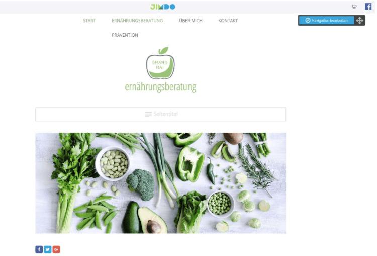 Professionelle Website erstellen mit Jimdo - Anleitung Schritt 3