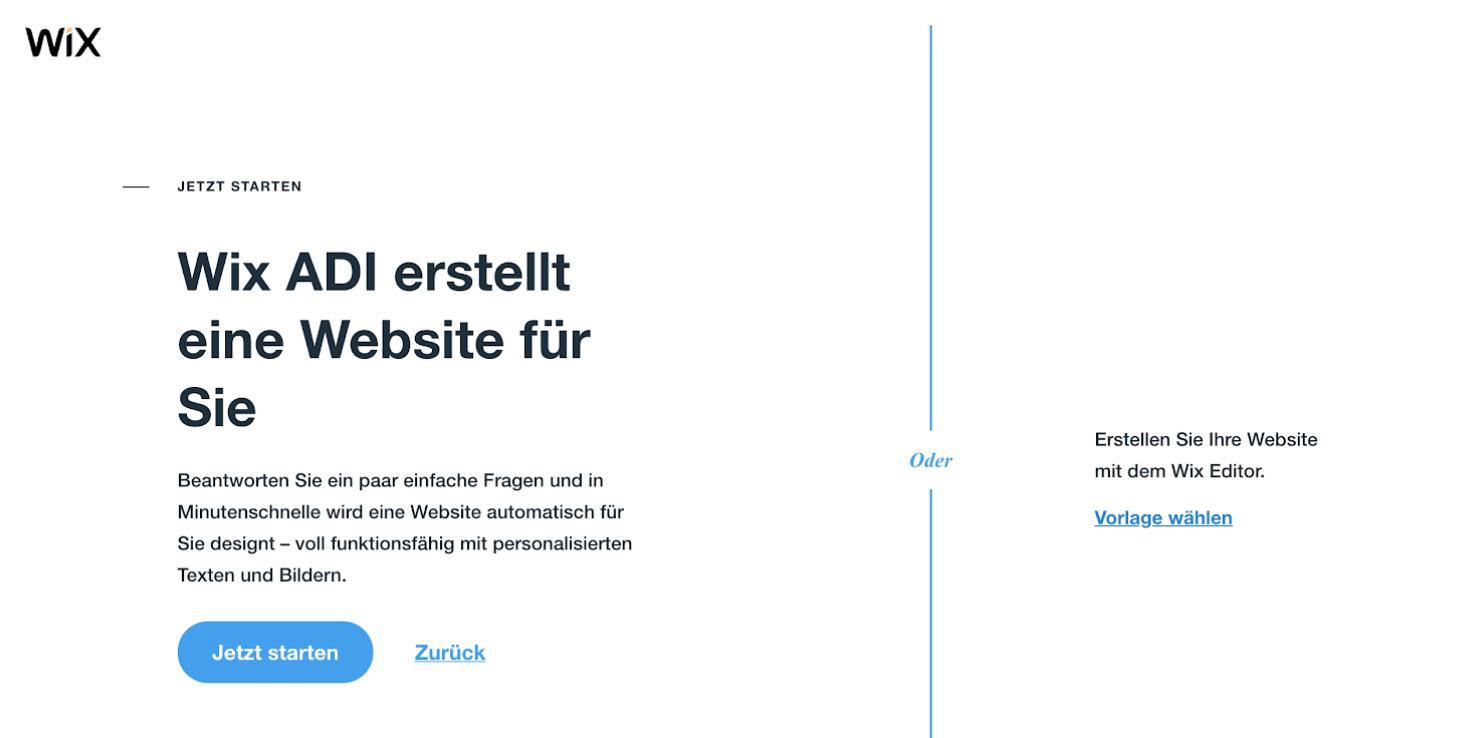 Kostenlose Website erstellen mit Wix - Anleitung Schritt 4
