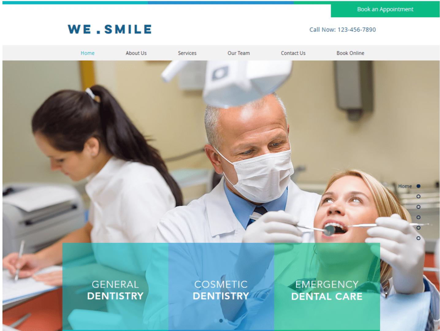 Website für Ärzte erstellen - Beispiel 1