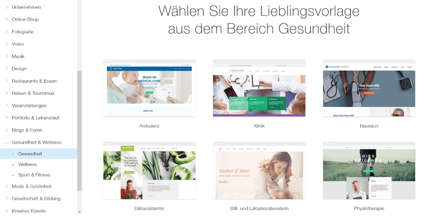 Website für Ärzte erstellen mit Wix - Anleitung Schritt 6