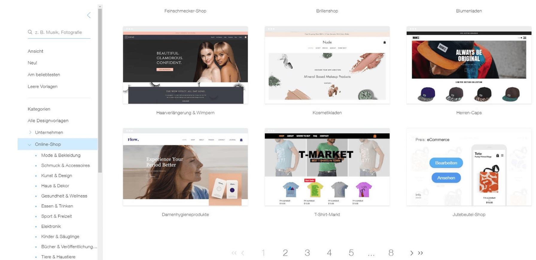 Eigenen Online-Shop erstellen mit Wix - Anleitung Schritt 6