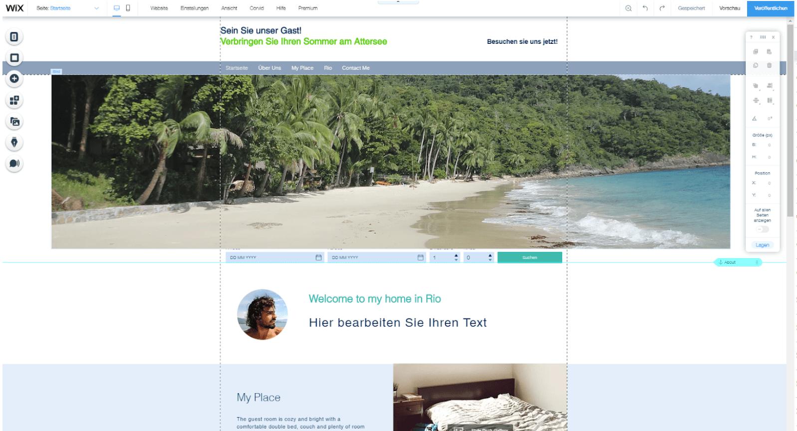 Kostenlose Website erstellen mit Wix - Anleitung Schritt 9