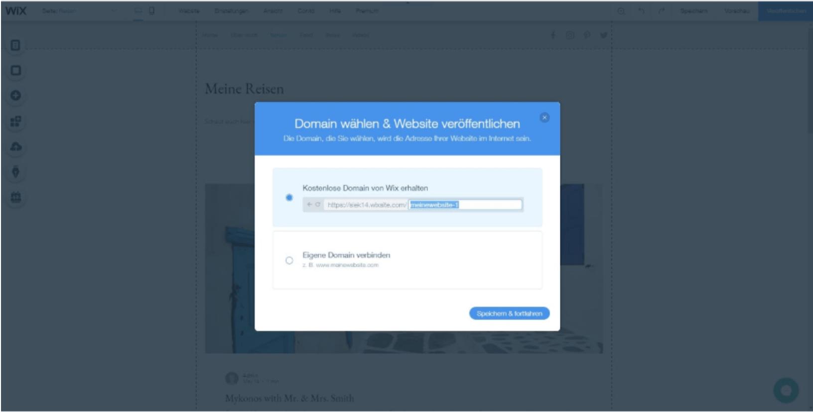 Kostenlose Website erstellen mit Wix - Anleitung Schritt 10
