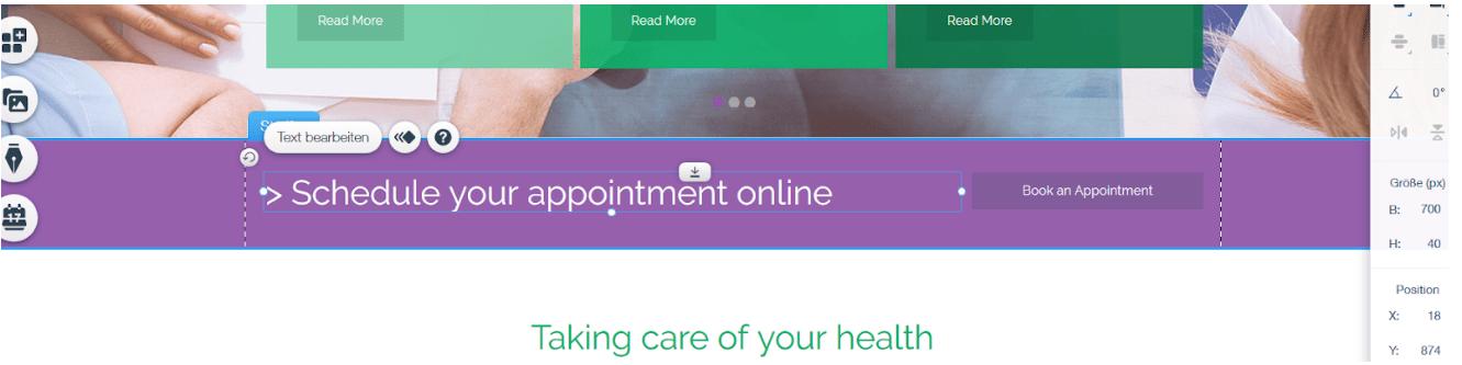 Website für Ärzte erstellen mit Wix - Anleitung Schritt 12