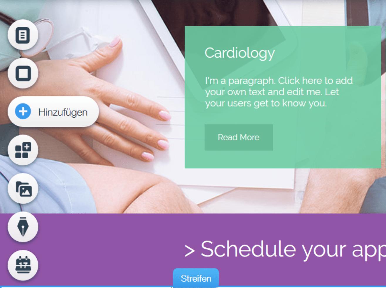 Website für Ärzte erstellen mit Wix - Anleitung Schritt 13