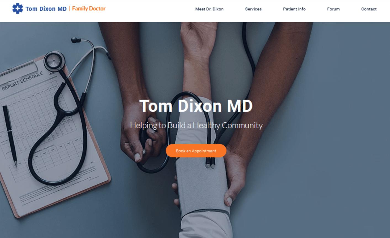Website für Ärzte erstellen - Beispiel 2