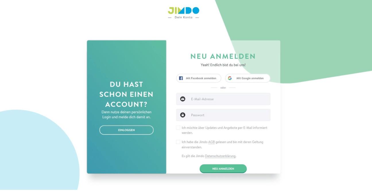 Website für Ärzte erstellen mit Jimdo - Anleitung Schritt 2