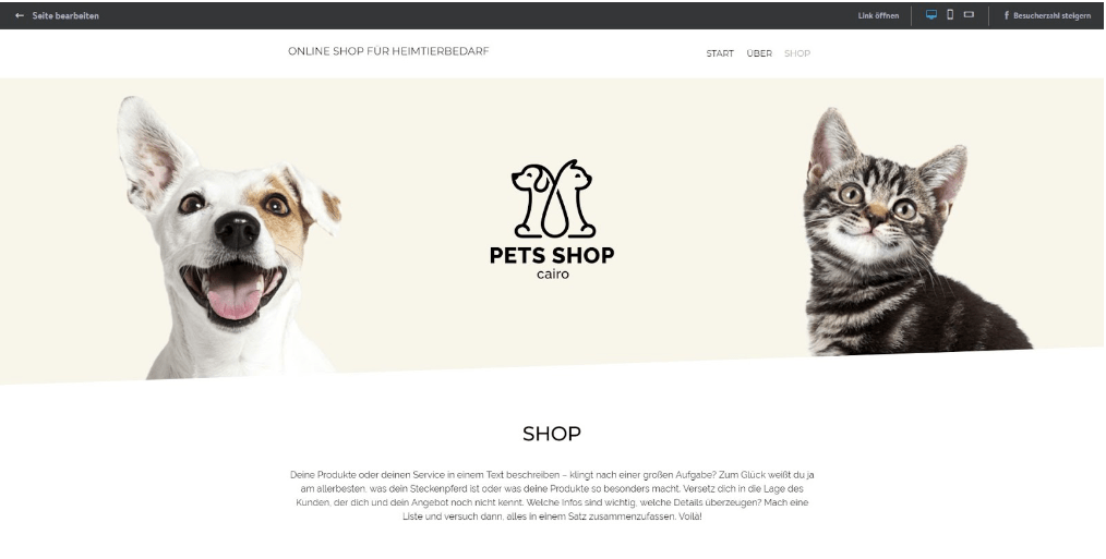 Eigenen Online-Shop erstellen mit Jimdo - Anleitung Schritt 10